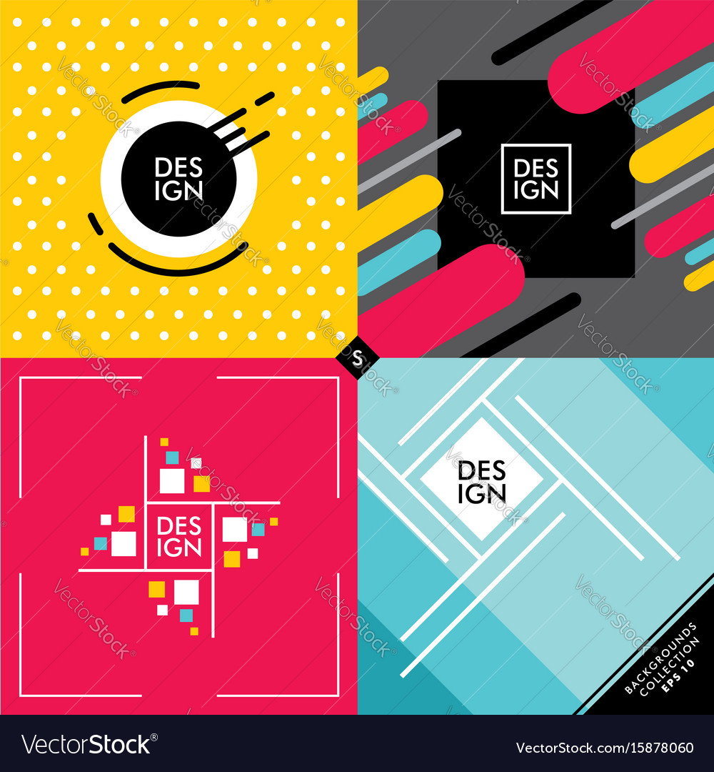 Set of colorful vivid backgrounds and patterns