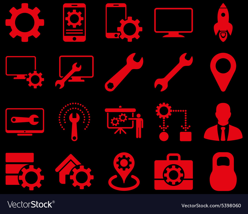 Settings And Tools Icons Royalty Free Vector Image