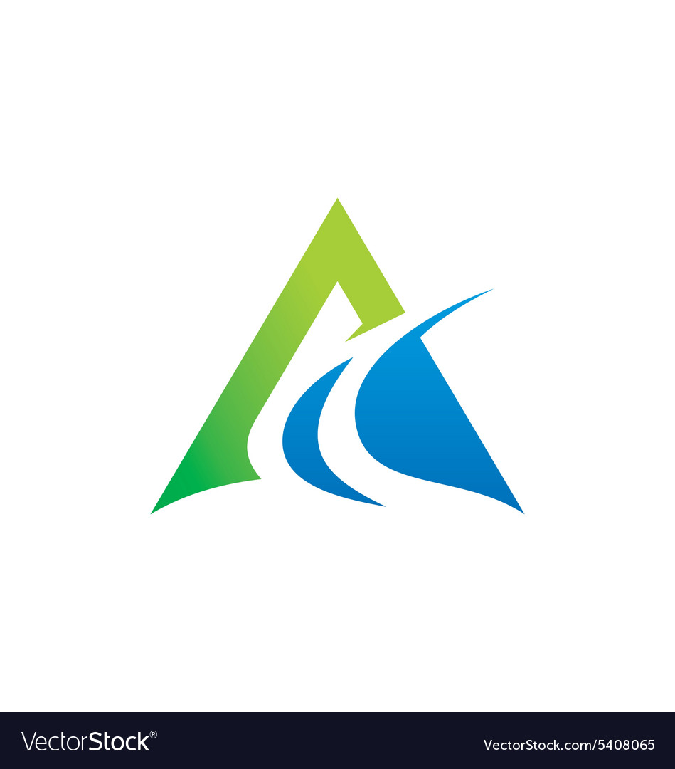 Abstract triangle business finance logo