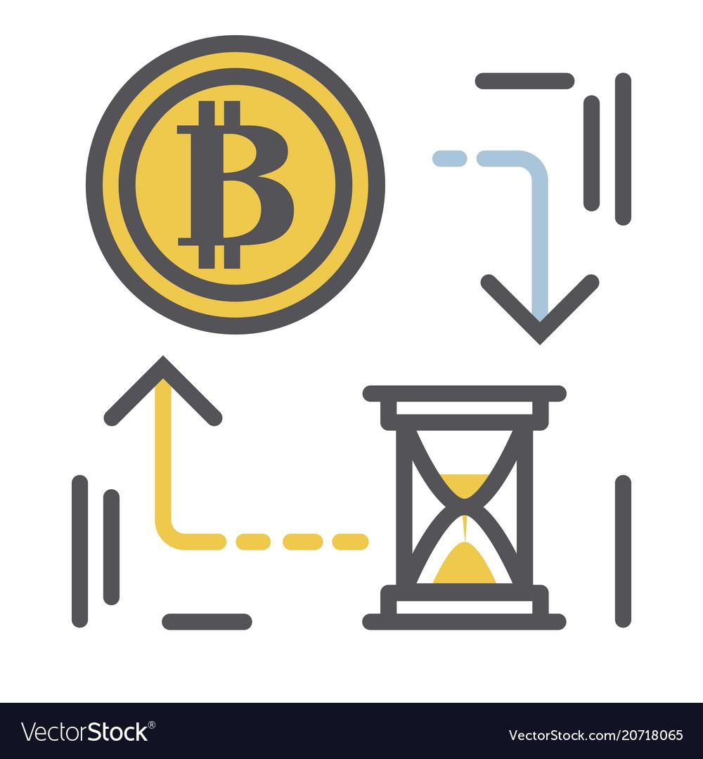 Bitcoin icon in modern thin