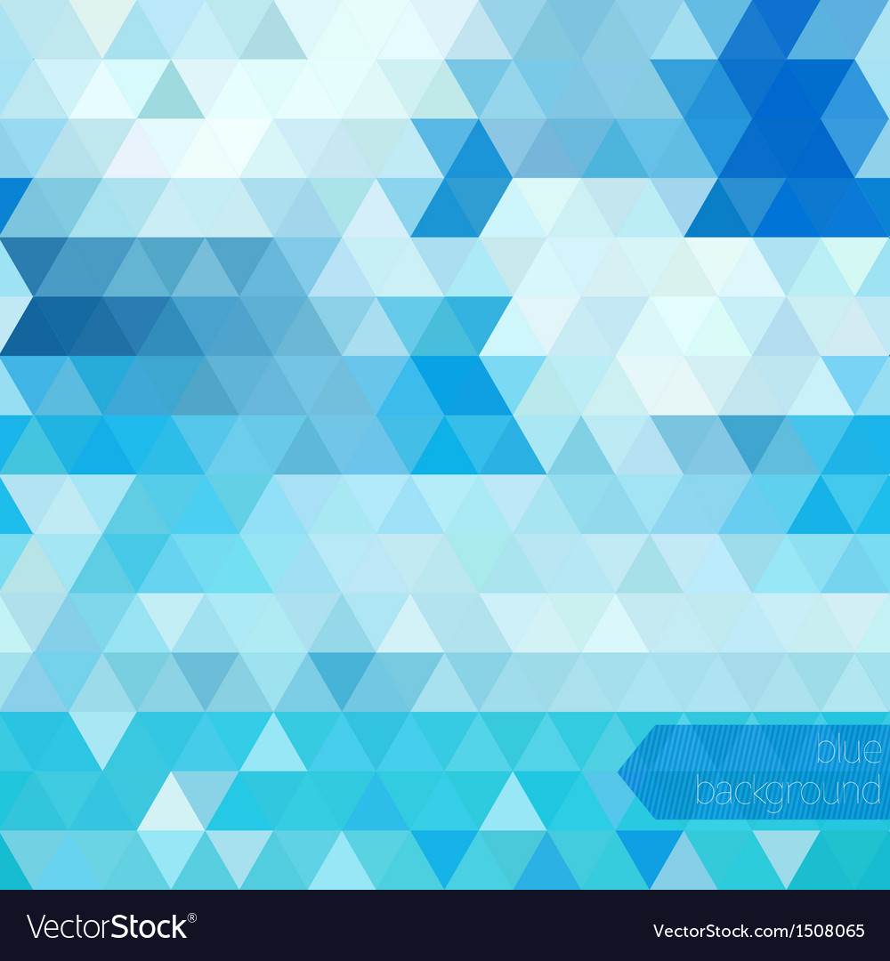 Blue Abstract Geometric Background Royalty Free Vector Image