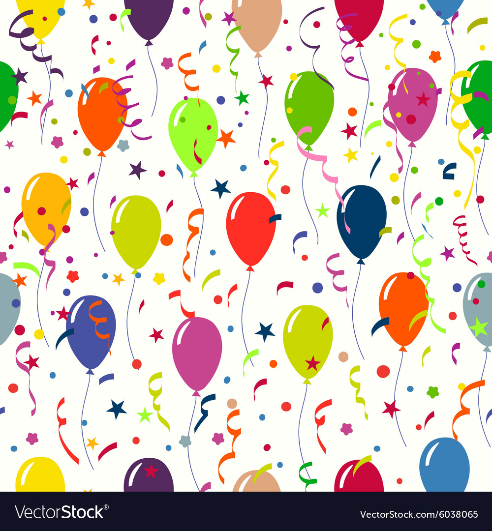 Bright holiday background with balloons and