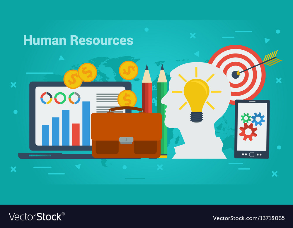 Business banner - human resources vector image