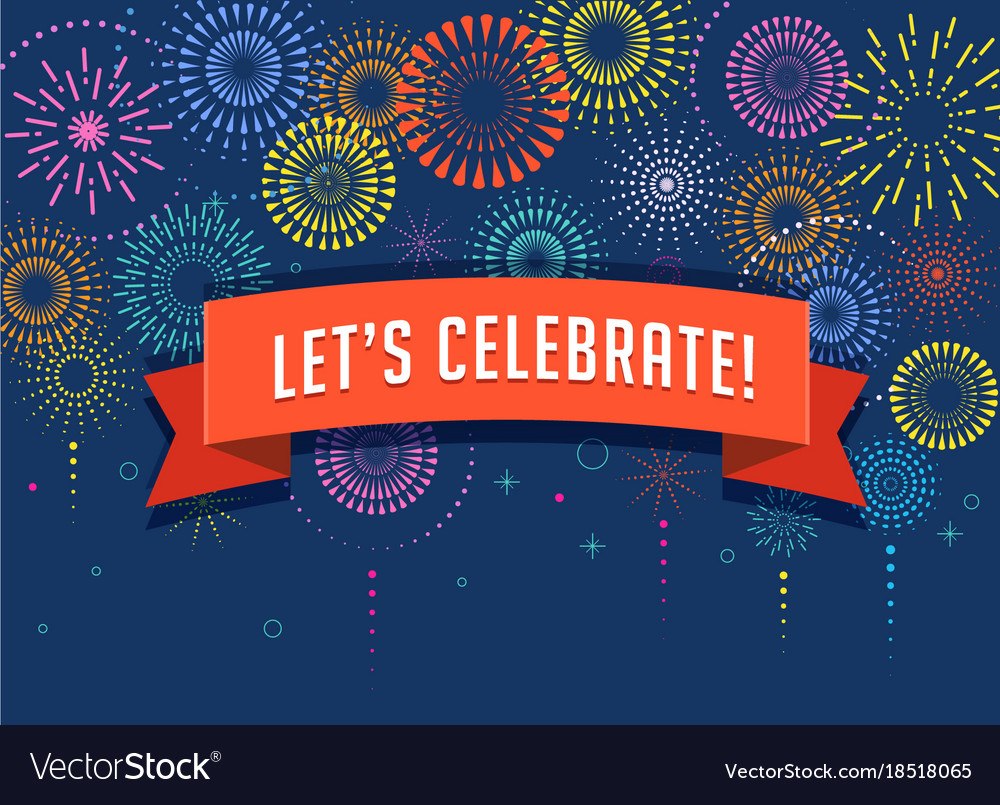 Fireworks And Celebration Background Royalty Free Vector