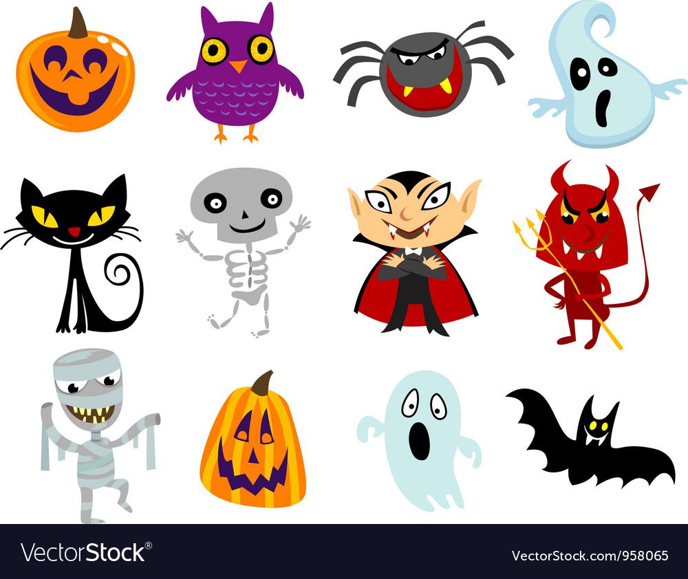Halloween cartoons vector image