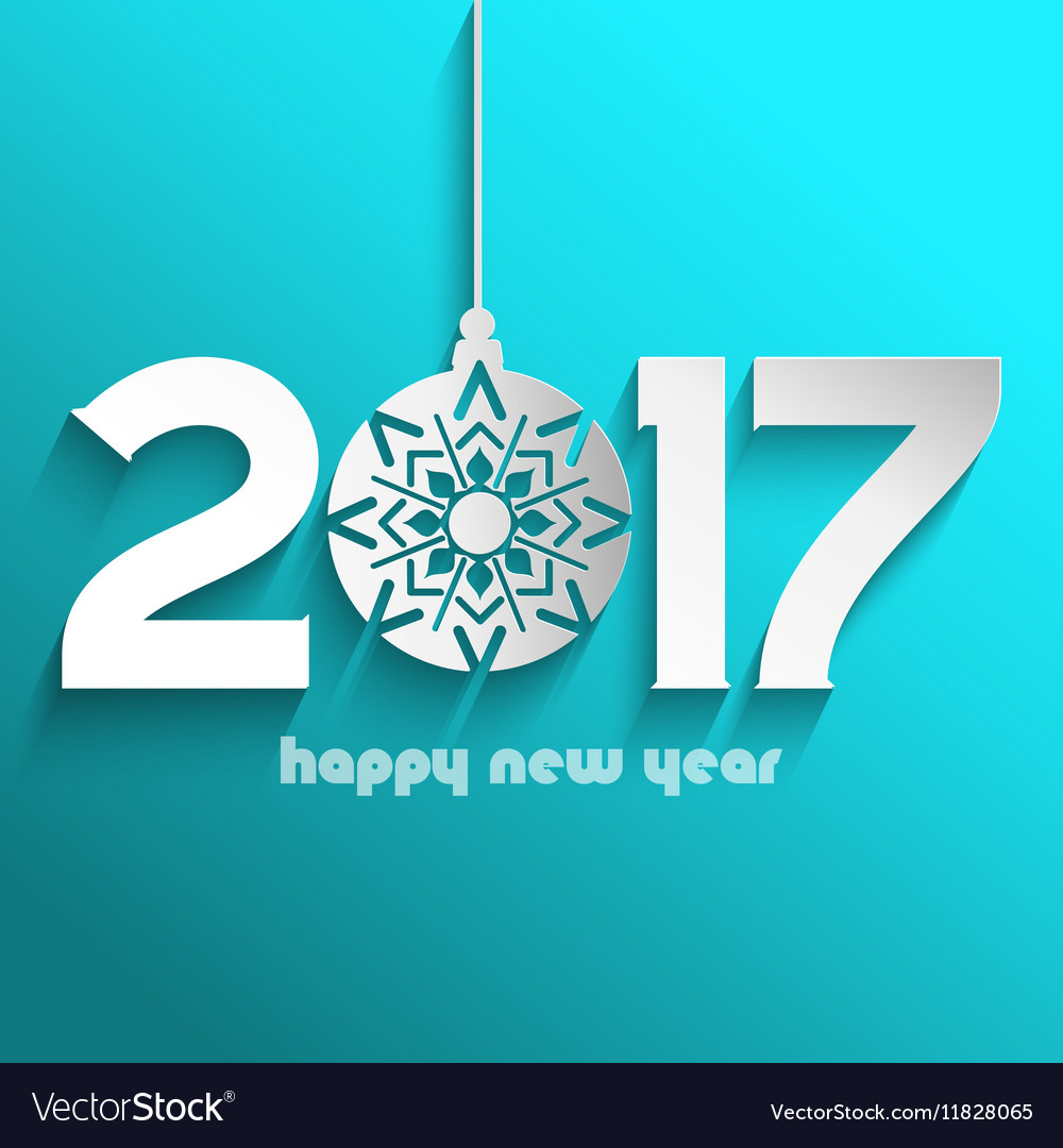 Happy new year bauble background 1609
