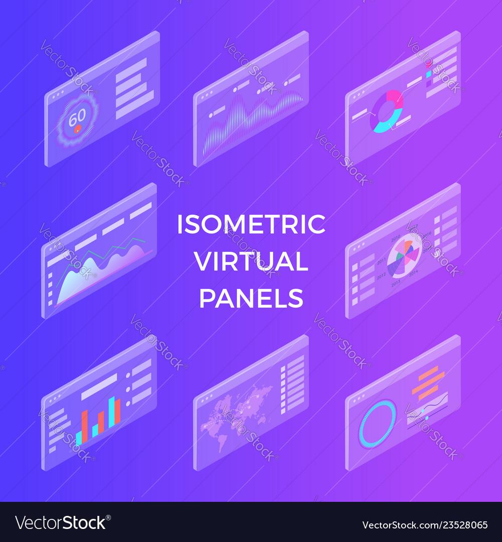 Isometric virtual panels