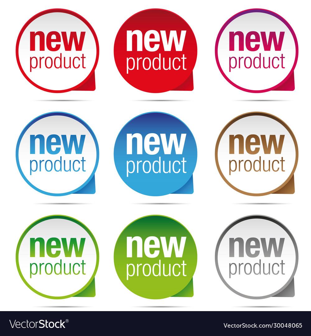 New product label badge set