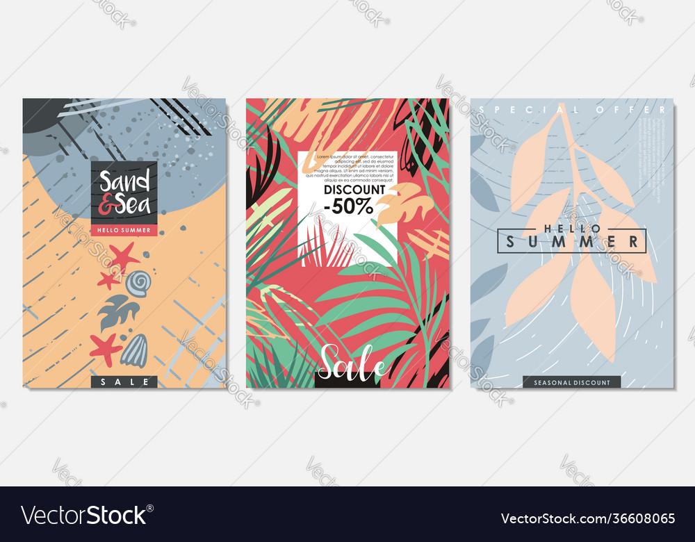 Summer seasonal sale banners