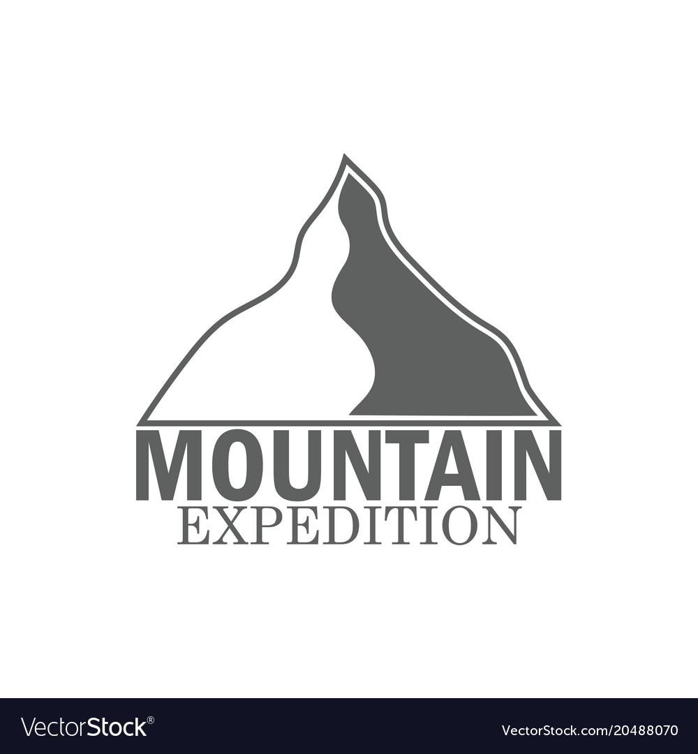 Monochrome logo mountain mountain expedition for