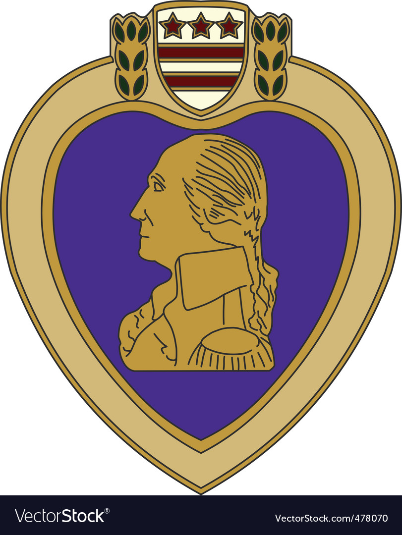Purple heart war medal