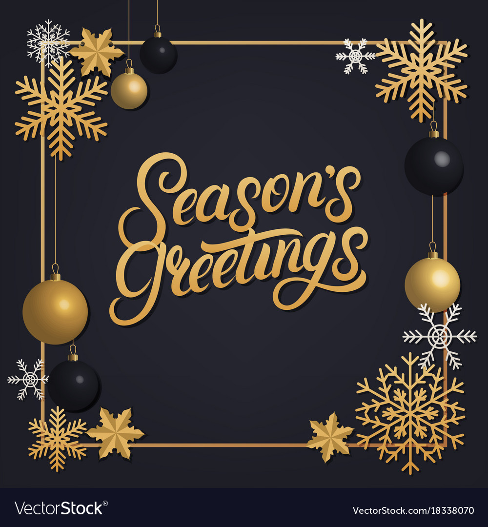 Seasons greetings 2018 hand written lettering vector image m4hsunfo