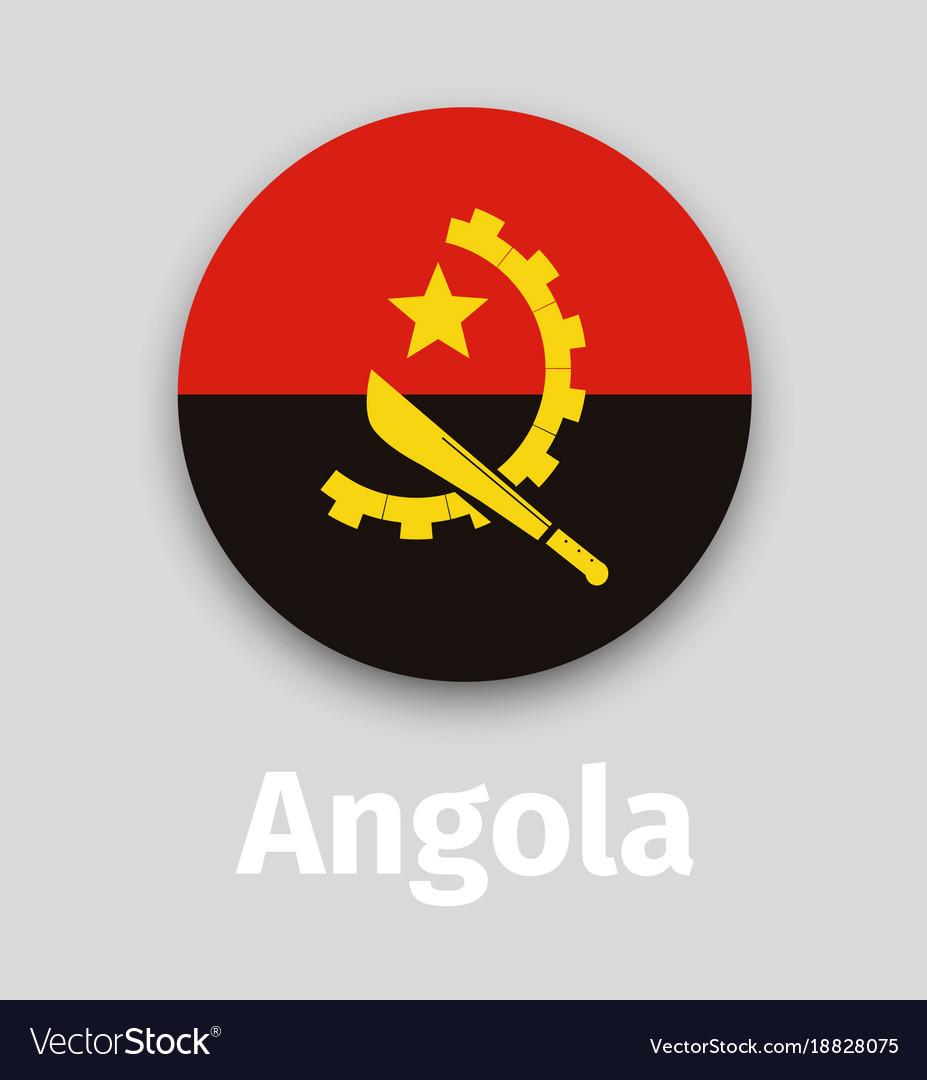 Angola flag round icon