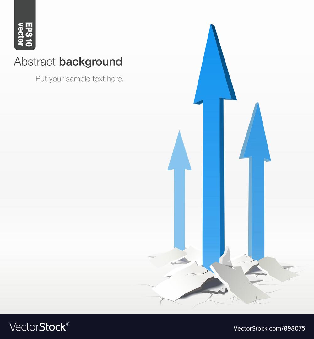 Growth arrows - success concept