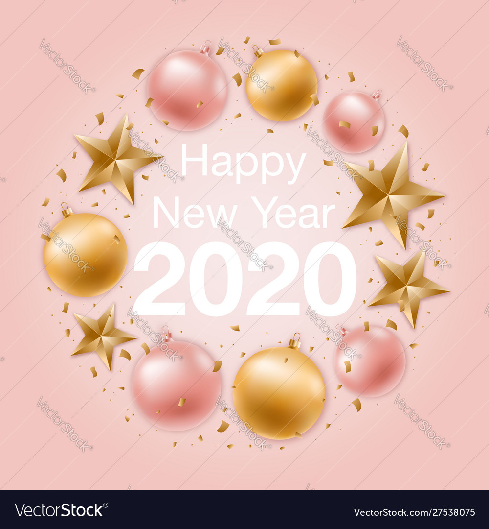Happy new year greeting background with shiny