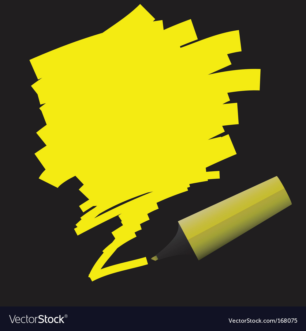 Highlighter pen vector image