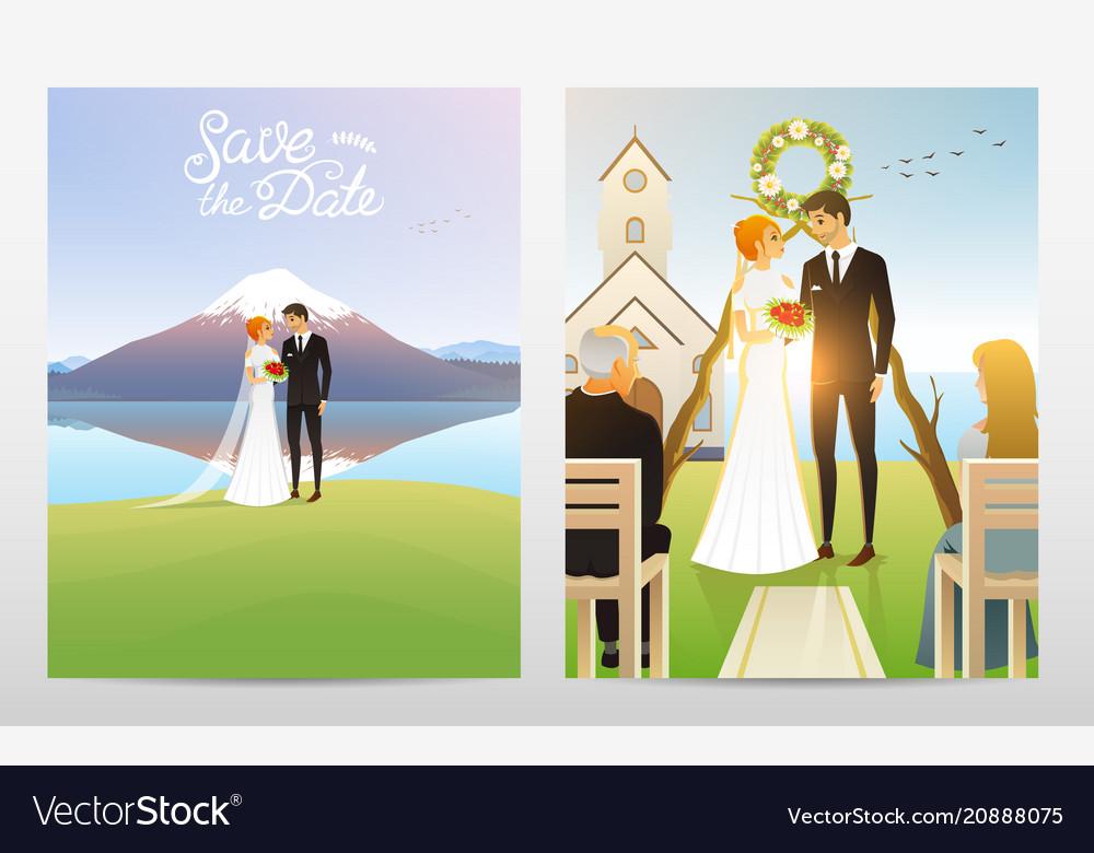 Newlyweds card bride and groom wedding ceremony