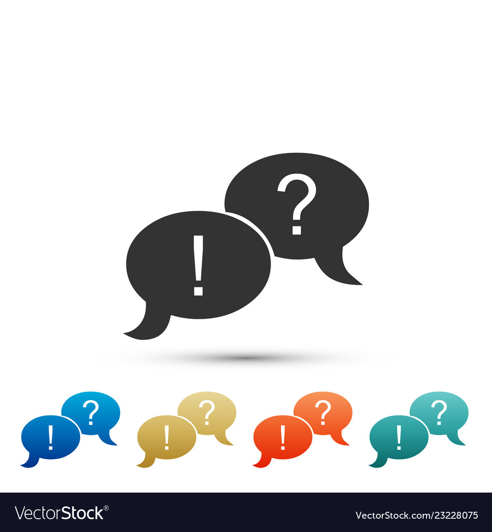 Speech bubbles with question and exclamation marks