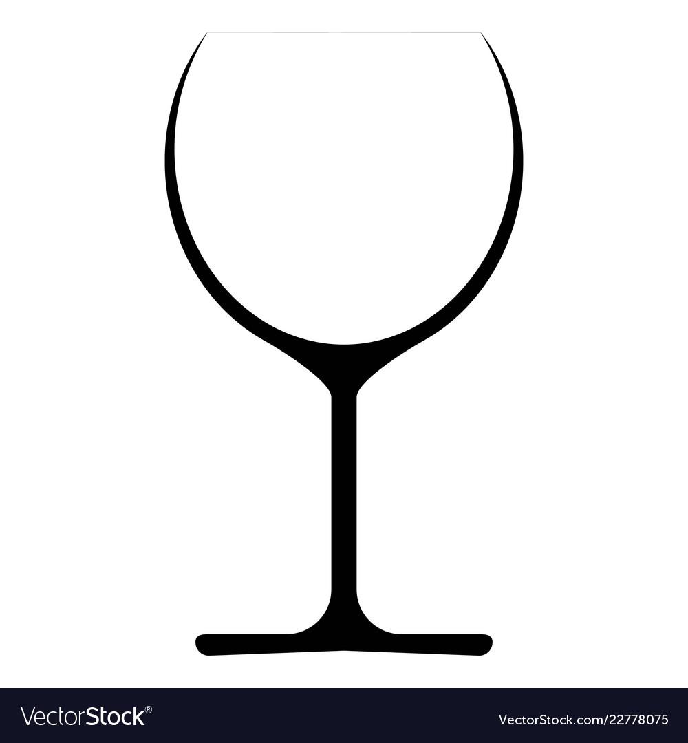 Wine glass icon symbol logo
