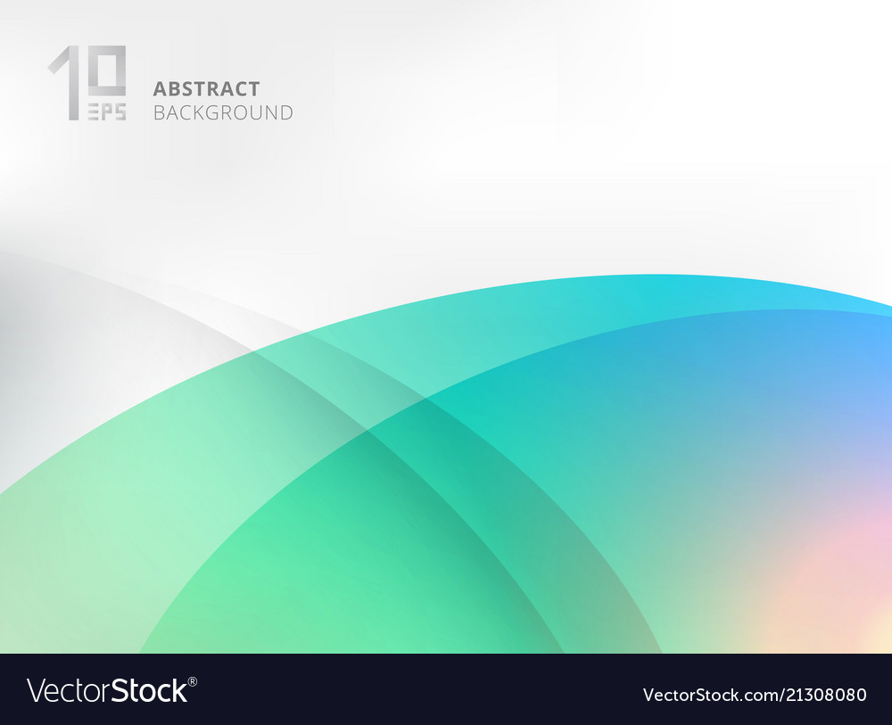 Abstract green gradient overlay circles on white