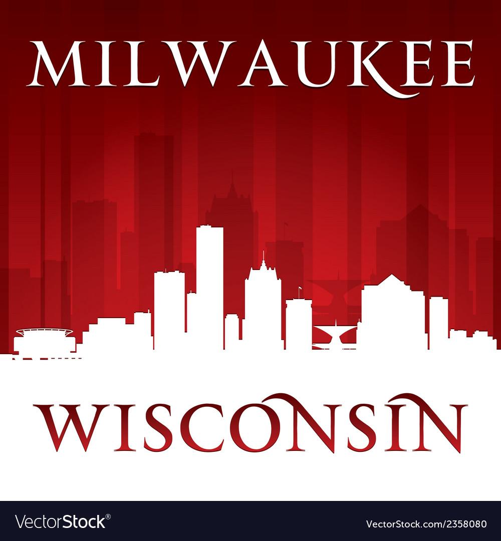 Milwaukee Wisconsin city skyline silhouette