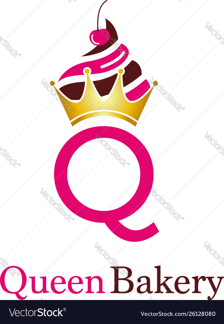 Queen bakery letter q logo symbol