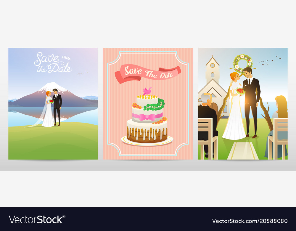 Wedding card bride and groom valentines day