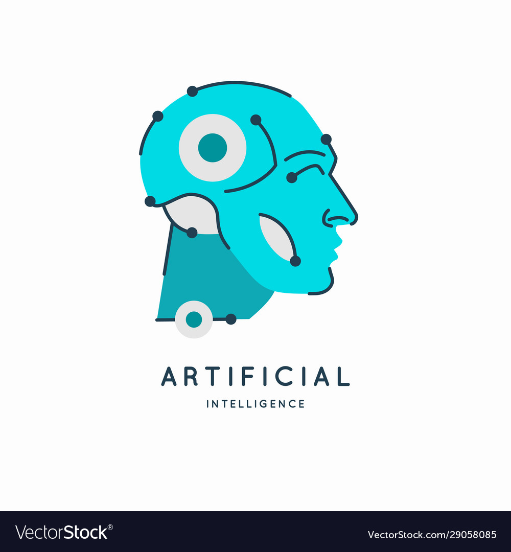 Artifical intelligence conceptual sign and logo