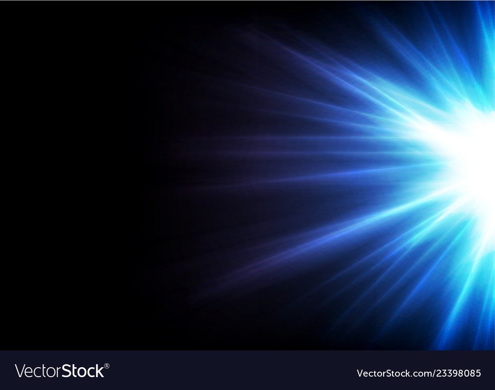 Blue glowing shiny rays abstract background