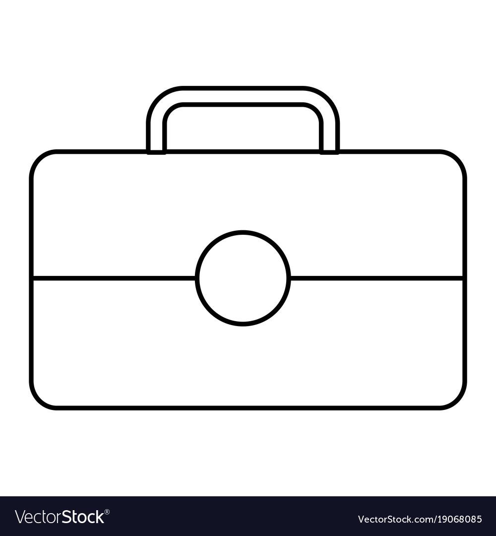 Business briefcase portfolio tool icon