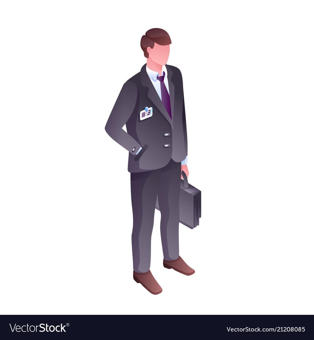 Businessman isometric