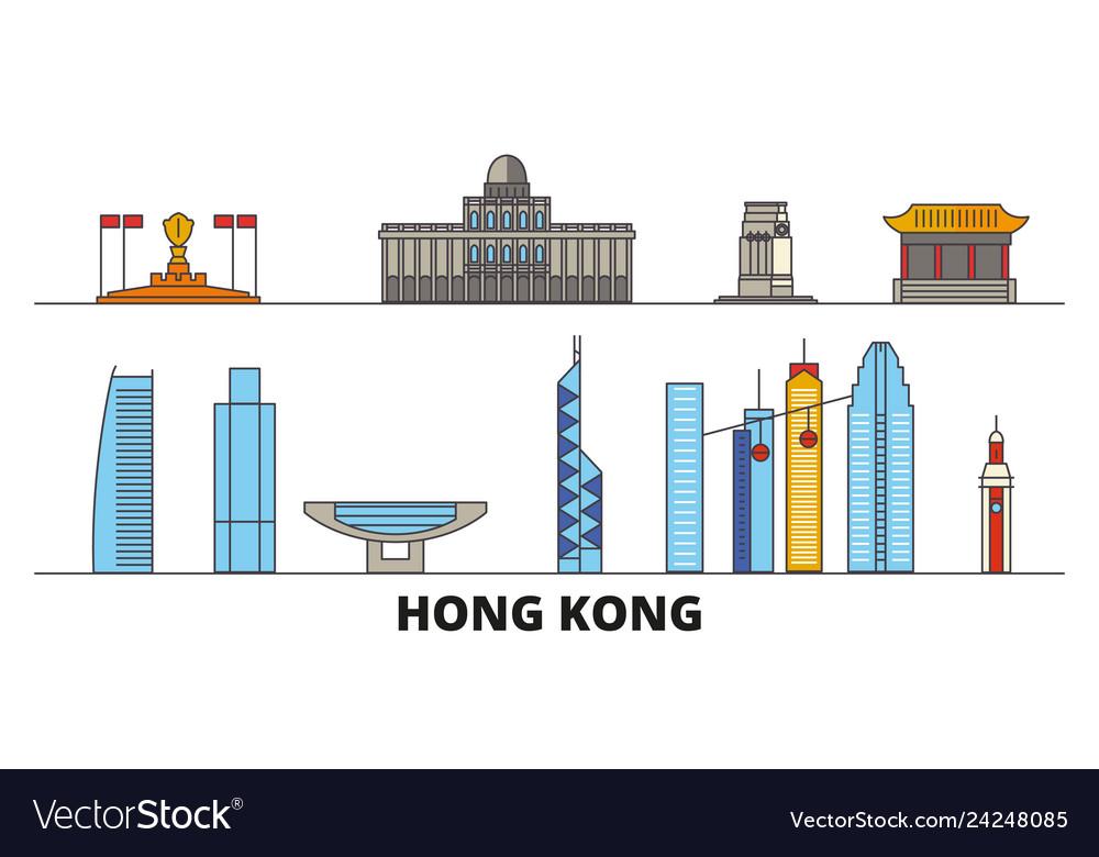 China hong kong city flat landmarks