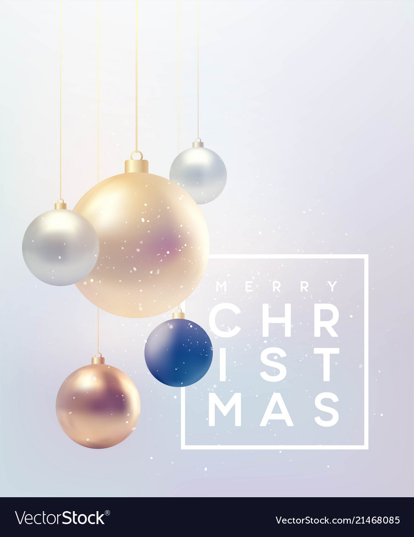 Christmas background with baubles and place for