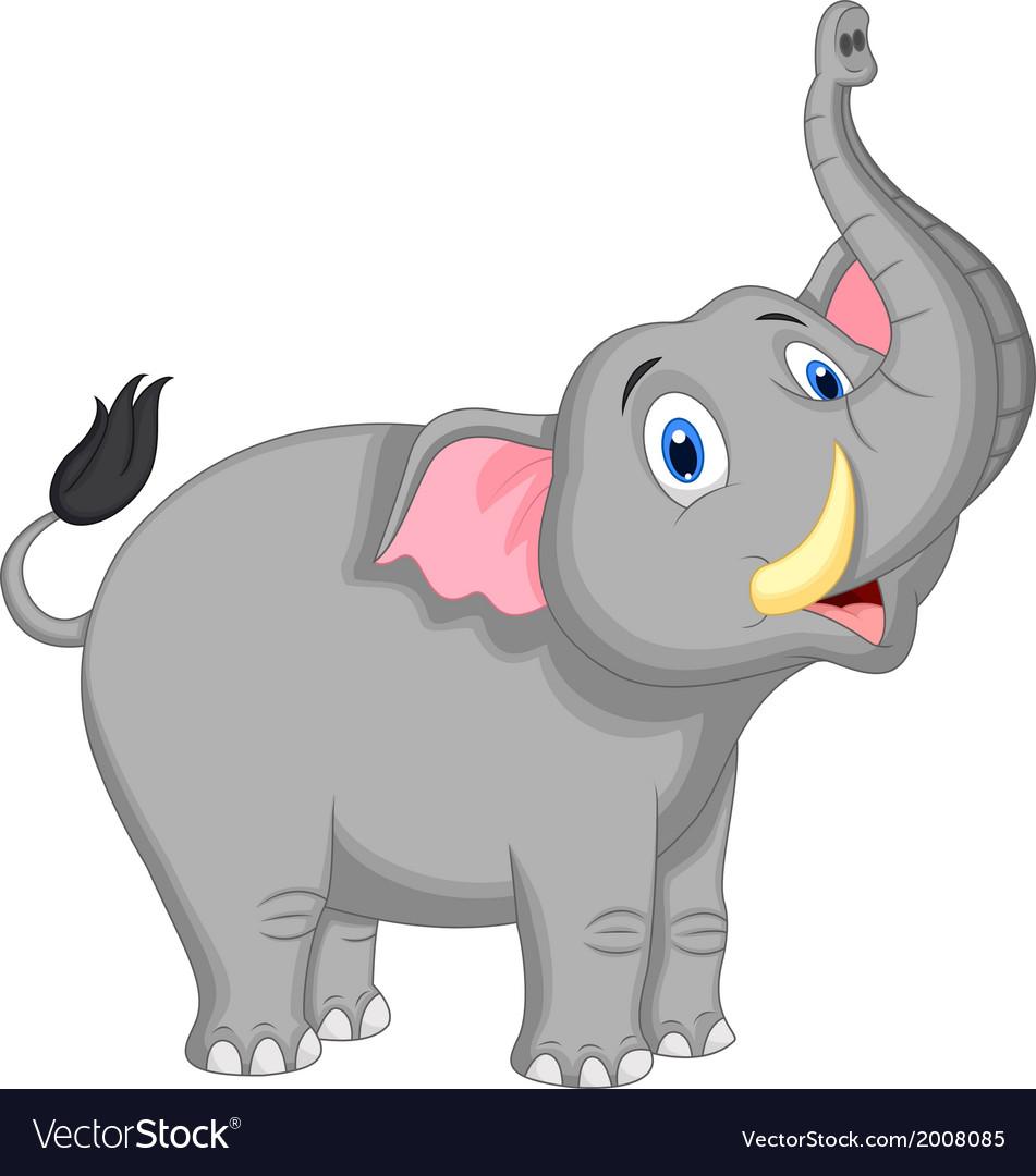 Cute elephant cartoon Royalty Free Vector Image