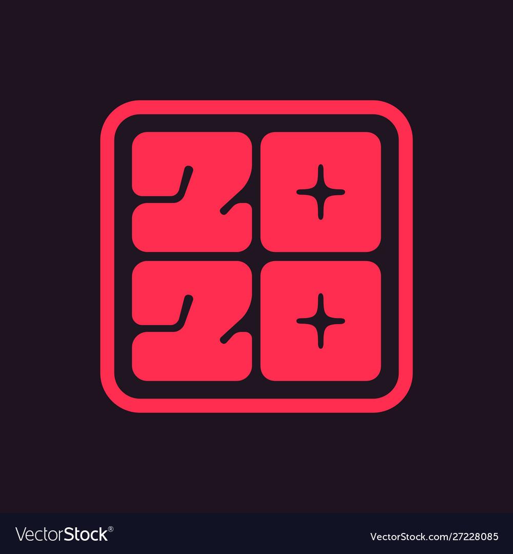 Icon 2020 happy new year
