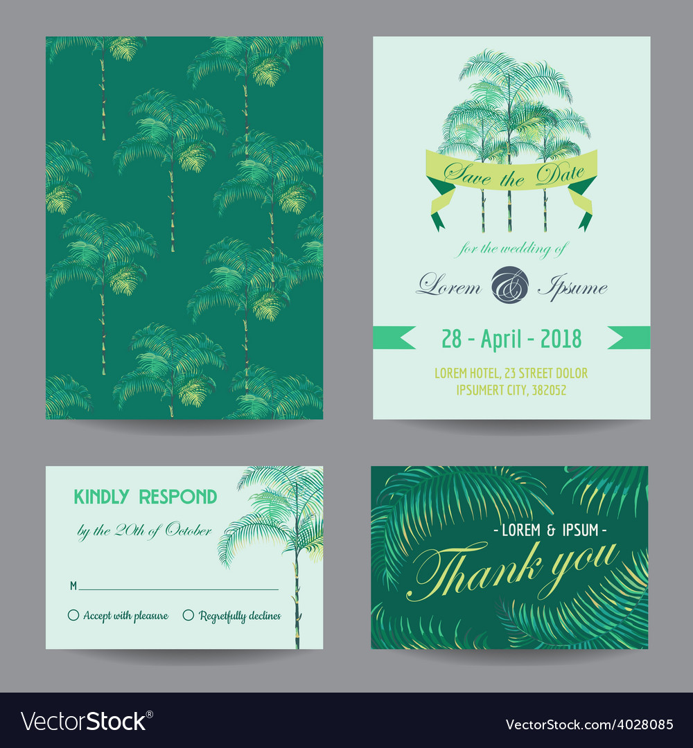 Invitation-Congratulation Card Set