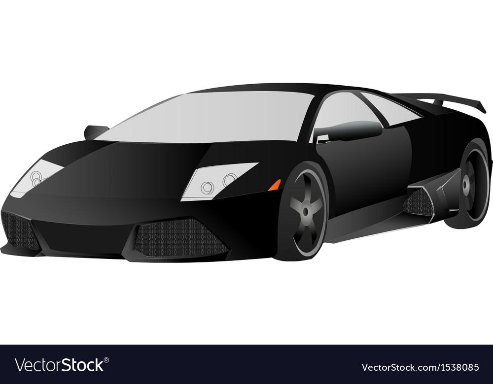 Lamborghini Black Non Stroke Eps Cs6 Royalty Free Vector