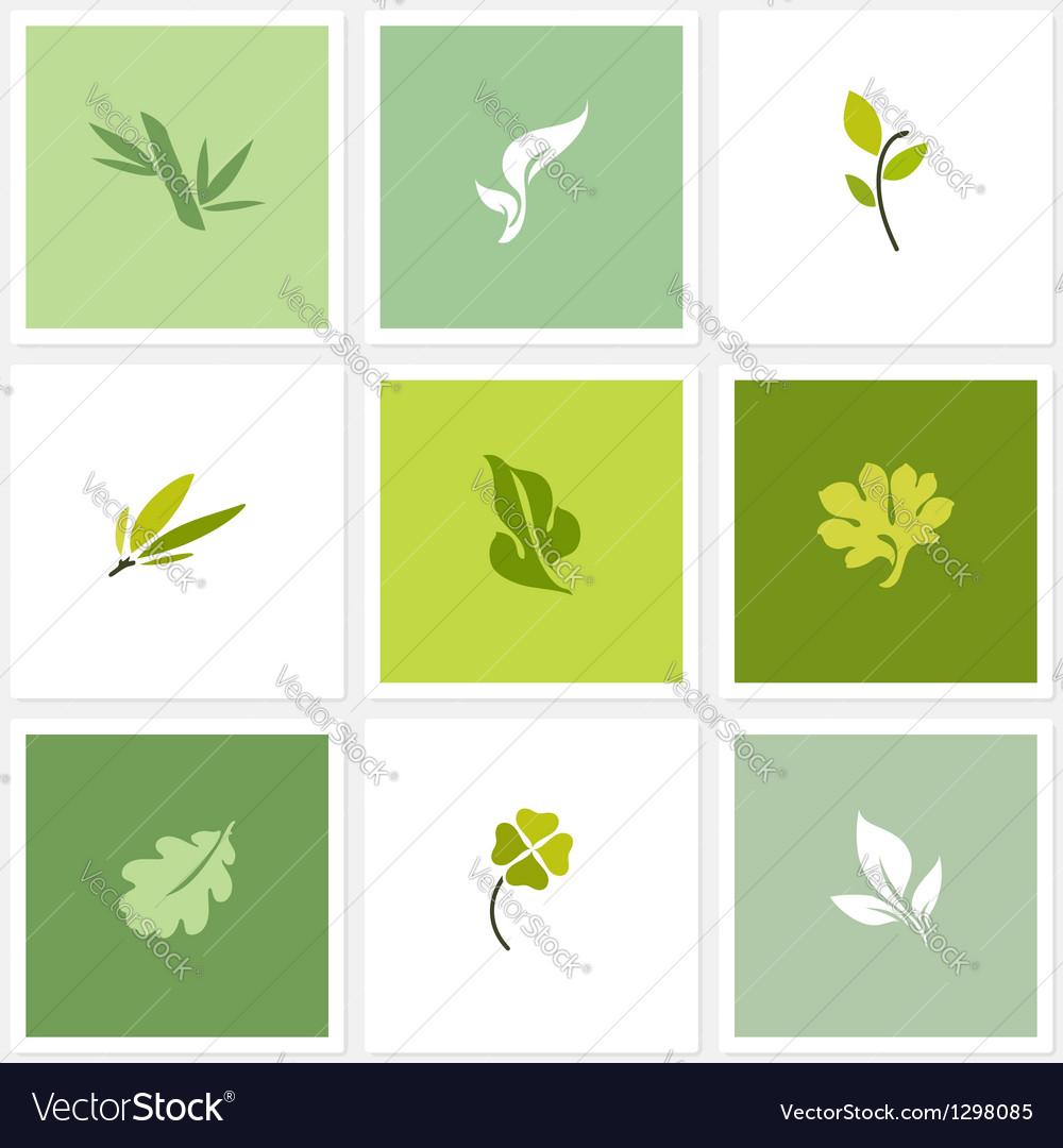 Leaf - Set of posters design elements vector image
