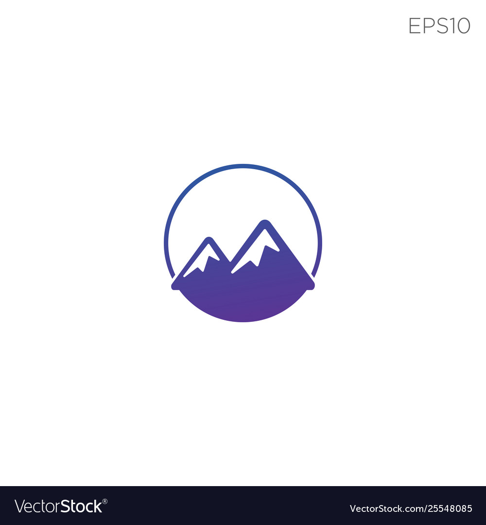 Mountain hill symbol or logo icon isolated