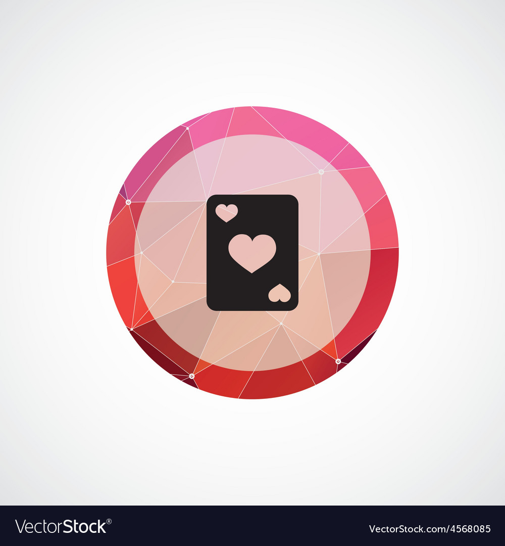 Poker circle pink triangle background icon vector image