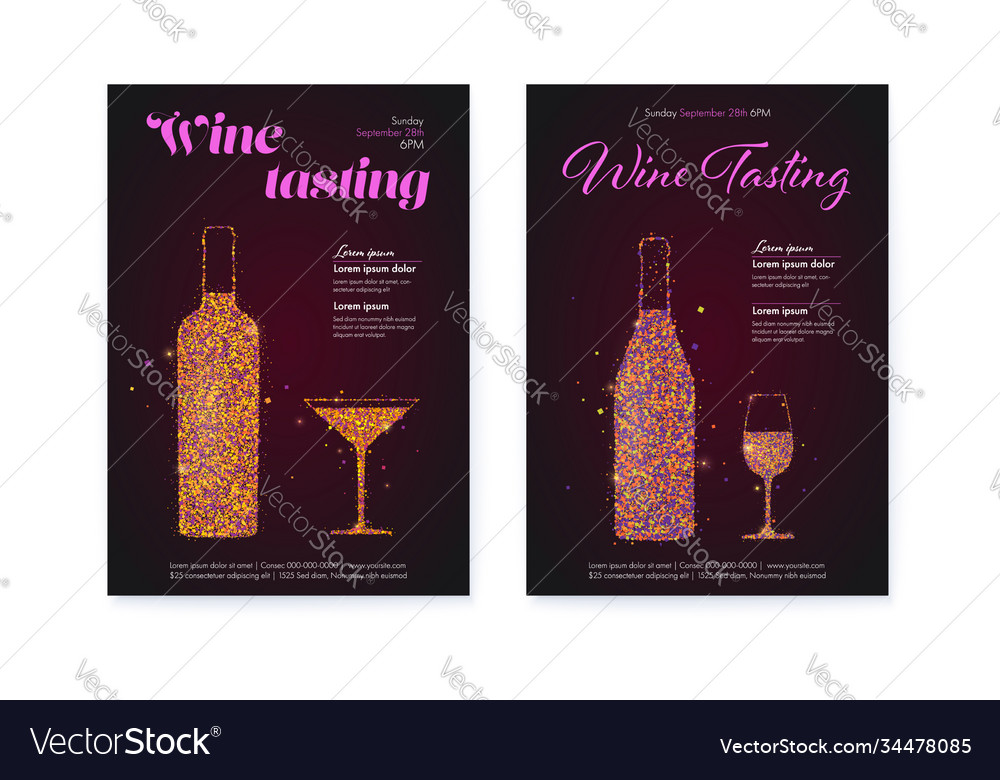 Set banners for wine festival posters for wine