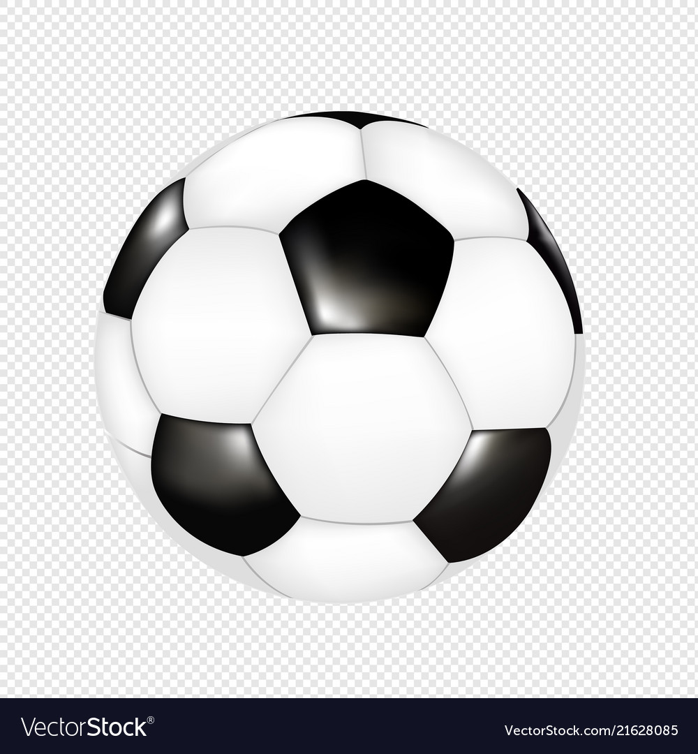 Soccer Ball Isolated Transparent Background Vector Image