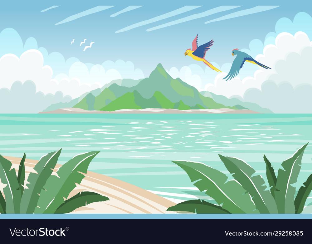 Summer tropical island tropical paradise