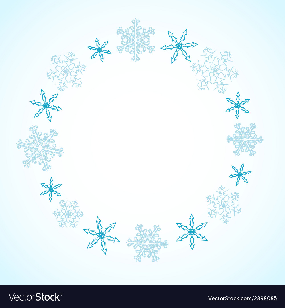 Winter frame Royalty Free Vector Image - VectorStock