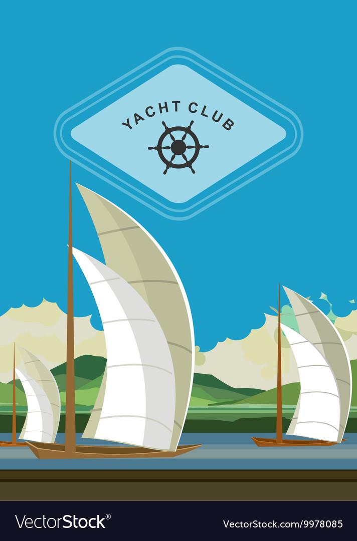 Yacht club flyer