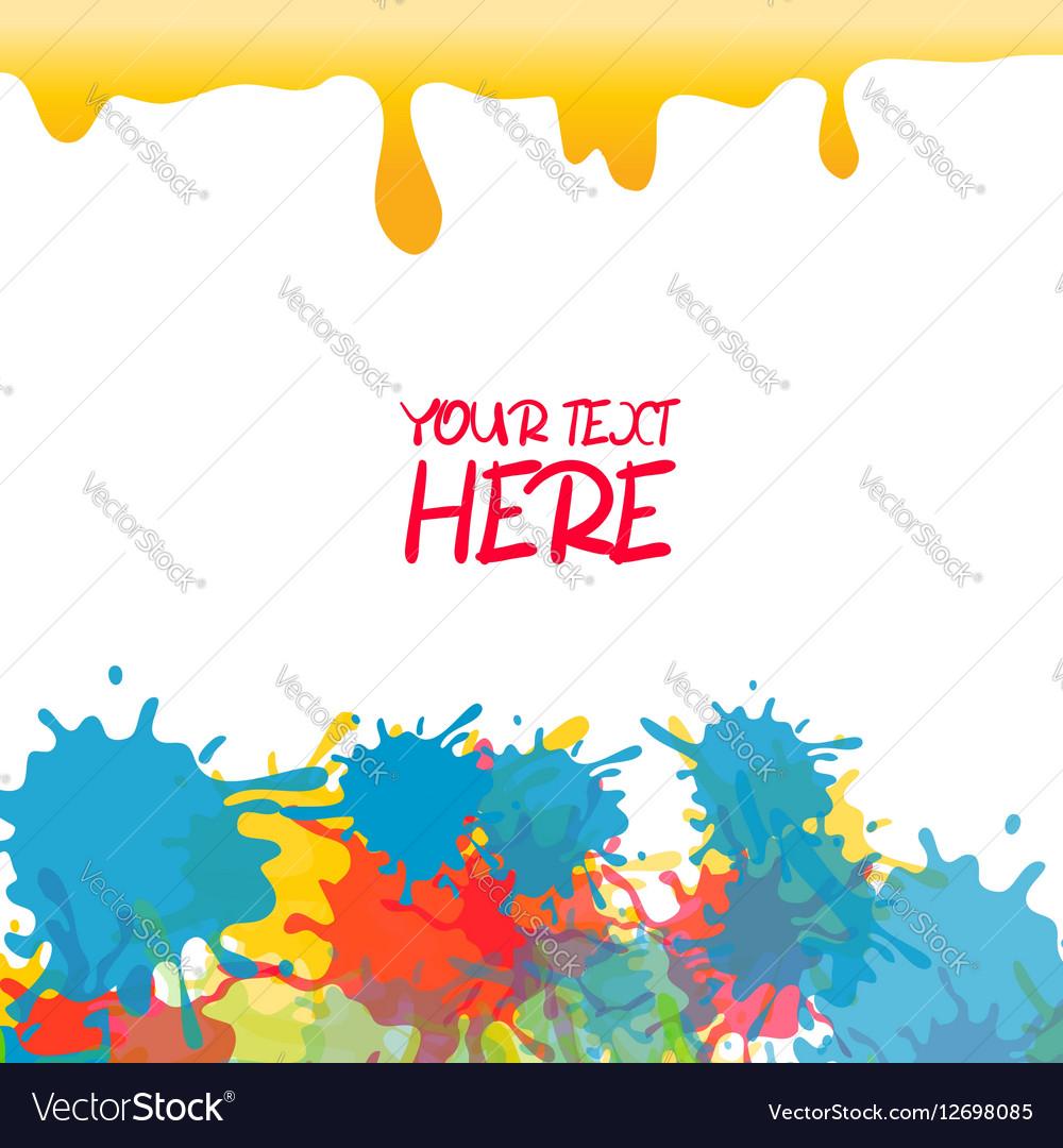 Yellow colored rainbow splash paint