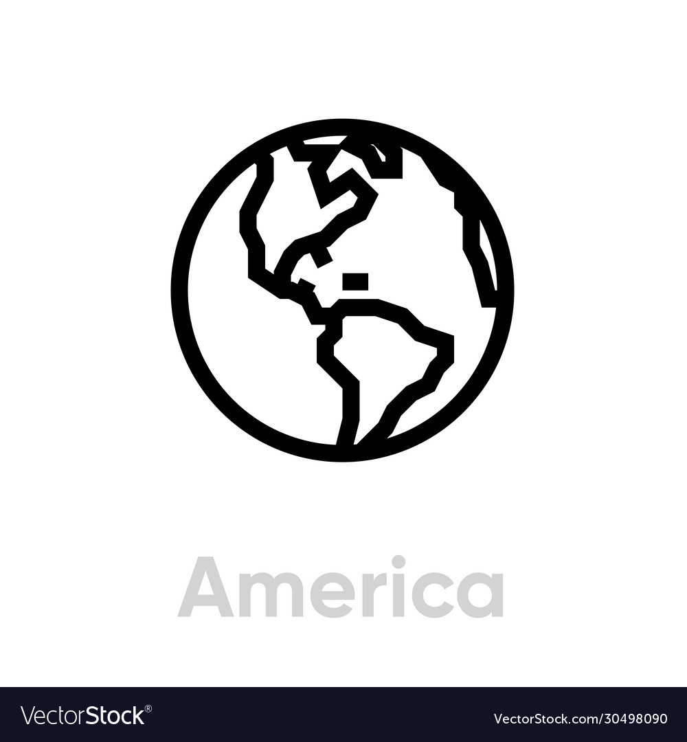 America icon editable outline