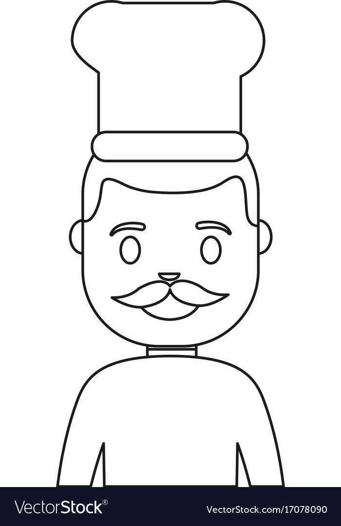 Cartoon chef man icon