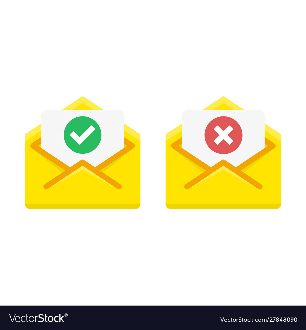 Check mark icon in mail envelope