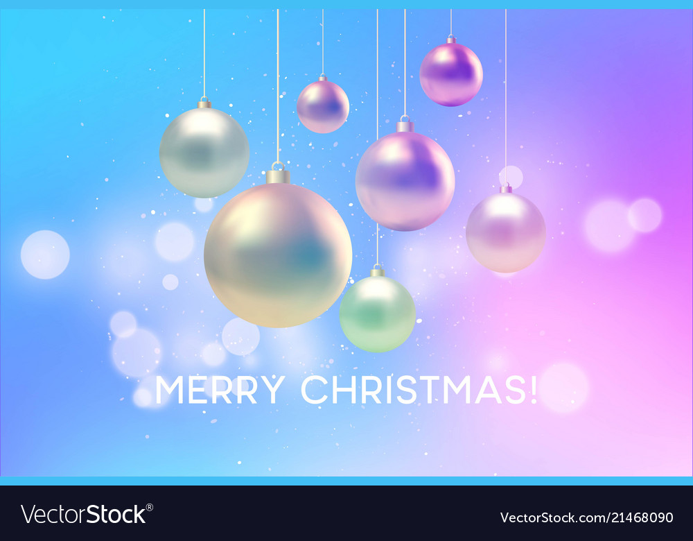Christmas blurred pink and blue background with